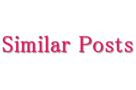Similar Postsの設定方法